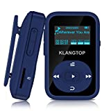 Bluetooth MP3 Player 8GB KLANGTOP Digital Clip Music Player with FM Radio Voice Record Function Special Design for Sport and Music Lovers (Blue)