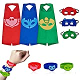 RioRand Kids Costumes 3 Packs,Dress Up Capes Set and Slap Bracelets Birthday Party Supplies for Boys Girls