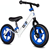 Blue (4LBS) Aluminum Balance Bike for Kids and Toddlers - 12' No Pedal Sport Training Bicycle for...