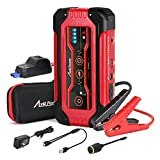 AVID POWER Jump Starter, Portable Lithium Car Battery Booster 600A Peak 15000 mAh 12V up to 7.0L Gas or 5.0L Diesel Engine, Power Bank with USB Quick Charge