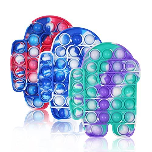 Hignut Push Pop Bubble Fidget Sensory Toy, Tie Dye Squeeze...