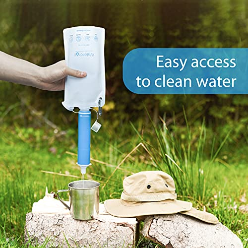 Product Image 8: Waterdrop Gravity Water Filter Straw, Portable Water Purifier Survival for Camping, Hiking, Backpacking and Emergency Preparedness, Green