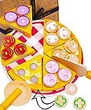Jaques of London Pizza Party de Ensemble de Jouets en Bois - Jouets de Cuisine...