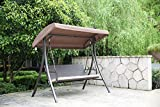 Angel Living Hollywoodschaukel Gartenschaukel Rattan 3 Sitzer - 7