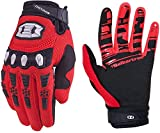 Seibertron Dirtpaw Unisex BMX MX ATV MTB Racing Mountain Bike Bicycle Cycling Off-Road/Dirt Bike Gloves Road Racing Motorcycle Motocross Sports Gloves Touch Recognition Full Finger Glove Red L