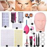 Vastitude Training Mannequin Head False Eyelashes Kit Extension Professional For Beginner Makeup Training and Eyelash Graft (#2)