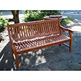 SEDEX Gartenbank New Jersey, 2-Sitzer, Holzbank aus Hartholz Eukalyptusholz FSC 120cm - 3