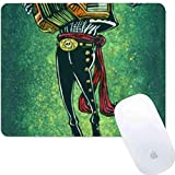 Computer Game Square Round Mouse Pad Mexican Skeleton Musician Mexican Skeleton Musician Sugar Skull Musician Crow Zombie Accordion Music Skeleton with hat Smooth Light Skid Proof Rubber Trendy