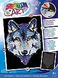Art Sequin - KAD1215 - Peinture Au Numéro - Motif Loup - 25 x 34 Cm - Coloris...