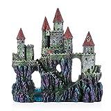 Miracliy Aquarium Decorations Castle, Aquarium Ornament Super Castle,10' (Big-Brown roof)