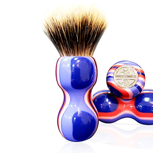 H&S Co. Synthetic Shaving Brush Red and Black