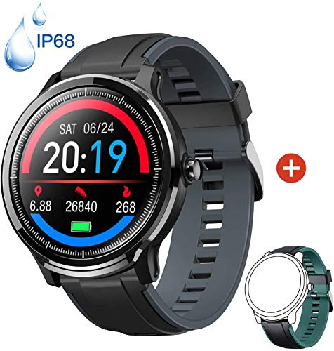 Smartwatch Orologio Intelligente con 1.3'' Schermo a colori tattile completo IP68 Fitness Tracker...