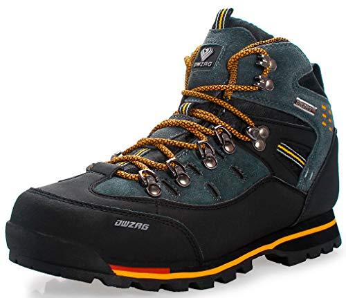 Weweya Hombres Botas de Senderismo Zapatos de Trekking resbaladizo...