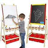 Leogreen - 2-en-1 Chevalet Enfants Multifonctions Tableau Double Face...