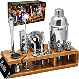 Elite 23-Piece Bartender Kit Cocktail Shaker Set by BARILLIO:...