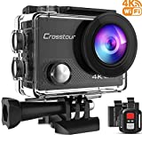 Crosstour Action Cam 4K WiFi 16MP Action Camera Subacquea 30M con Custodia Impermeabile IP68 e Telecomando