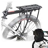 Porte-bagages arrière pour vélo en alliage avec réflecteur -...