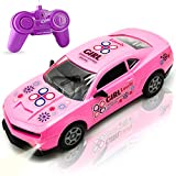 Pink Remote Control Racing Car Toy for Girls Toddlers Kids Birthday Christmas Party Gifts - Princess Style RC Racing Vehicle Car