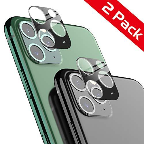 AUCHIKU Kamera Panzerglas Kompatibel mit iPhone 11Pro/11Pro Max [2 Stück],Kamera Screen Protector 9H Härte Kamera Schutzhülle 360 Grad Full Screen Kamera objektiv Displayschutzfolie