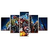 YspgArt66 -Impression sur toile 5pièces Décoration murale Motif Avengers...
