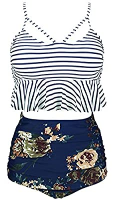 Sizes(recommend):Small:US2/US4 Medium:US6 Large:US8 X-Large:US10 XX-Large:US12 XXX-Large:US14 XXXX-Large:US16/US18 Hand Wash Cold, Line Dry;Polyester Spandex Swimsuit Fabric Falbala, Crisscross hollow out backless style, , High-waisted and removable ...