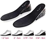 Height Increase Insoles, 4-Layer Orthotic Heel Shoe Lift kit with Air Cushion Elevator Shoe Insole Lifts Kits Inserts for Men & Women Taller Insoles 1.2' to 3.5' Variable Height Adjustable