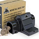 froboo Mouse Reaper - Mouse Traps for Indoors that Kill Instantly - Powerful Instant Kill Snap Trap for Mice - Child and Pet Safe Covered Trap (1 Pack)