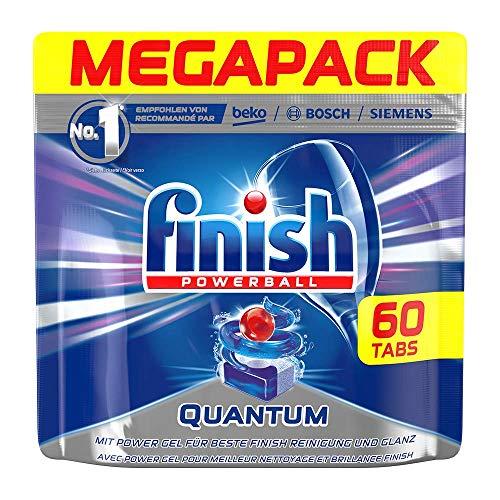Finish Dishwasher Quantum Powerball Tablets, Regular - 60 Tablets, 930gm