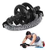 Carllg Ab Roller, Abs Workout Equipment for Home Workouts, Ab Roller Wheel with Resistance Bands kit for Men Women