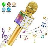 Ankuka Microphone sans Fil Karaoké, Microphone Bluetooth 4 en 1 Portable...