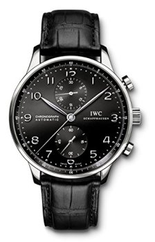 IWC Men's Swiss Quartz Watch with Stainless Steel Strap, Black (Model: IW371447)