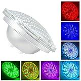 PAR56 LED Piscine,54W AC 12V RGB Télécommande Ampoule LED Piscine...
