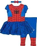 Marvel Spiderman Toddler Girls' Costume Dress, Leggings and Headband Set (3T)