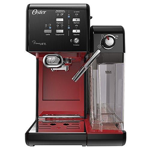 Prima Latte II Espresso Coffee Maker, Red, 110v, Oster