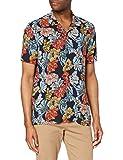 find. Camisa Hawaiana de Manga Corta Hombre, Azul (hawaiano), L, Label: L
