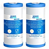 GOLDEN ICEPURE 5 Micron 10' x 4.5' Whole House Sediment Activated Carbon Water Filter Compatible with GE FXHTC, GXWH40L, GXWH35F, GNWH38S Universal Water Filter System 2pack
