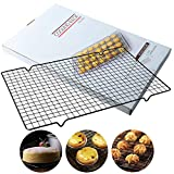 Cooling Racks for Baking - 2 Pack Stainless Steel Cooling Rack/Baking Rack - Oven & Grill Safe Heavy Duty Cooling Racks for Roasting, Cooking, Drying - Small Grid Perfect To Cool and Bake(10' x 16')