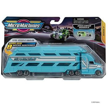 Micro Machines starter pack, mini hauler - includes 2 vehicles, lorry & exclusive car, chance of rare - toy car collection