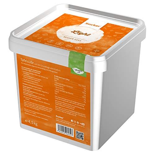 4,5 kg-Box Xucker Light (Erythrit)   Erythrit von Xucker: Xucker Light   Sparpack   Vegan   Allergen-frei   Zahnfreundlich   Kalorienfrei