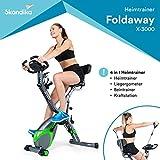 skandika Foldaway X-3000 - Vélo d'appartement x-Bike Pliant - 8 Niveaux de...