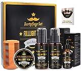 Kit Barba Cuidado para Hombre con 118 ML Champu Barba,118 ML barba acondicionador,Aceite Barba...