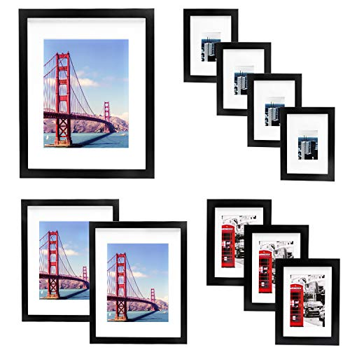 VSADEY 10 Pack Picture Frames Collage Wooden Photo Frames Wall...