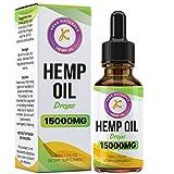 Complément alimentaire Gouttes d'huile de chanvre | 15 000 mg | Haute résistance | Fabriqué au Royaume-Uni | Norme GMP | Sans arômes artificiels | Sans OGM | Végétalien et végétarien | 30 ml