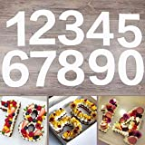 EORTA 0-8 Numeral Cake Stencils Molds 10 Inch Arabic Number Cake Maker Decorative Fillings Layered Cake Baking Tools for DIY Wedding Birthday Anniversary, White