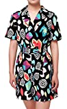 ugoccam Women Girl Mall Eleven Cosplay Costume Short Sleeve Romper Dress Ouifit Girls 140(6-7T)