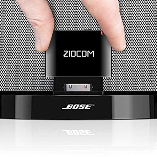30-poliger Bluetooth-Adapter von Bose für Bose Sounddock und andere Musik-Dockingstationen, 30-poliger iPod-Docking-Lautsprecher für das iPhone (nicht für Autos oder Motorräder geeignet) - schwarz