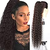 Fashion Icon 30' Long Drawstring Ponytail Synthetic High Puff Afro Clip in Ponytail Hair Extensions Brown Curly Corn Wave Clip in Hair Pieces for Women (#4)