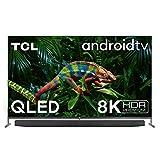 189cm (75 pouces) 8K (résolution 7680 x 4320 pixels) QLED (Quantum Dot) Smart AndroidTV dans un cadre métallique ultra-fin avec caméra intégrée et rétractable et système audio ONKYO.  DVB-T2 / C / S2 Triple Tuner, Dolby Vision, Gradation locale Full Array, HDR Premi ...