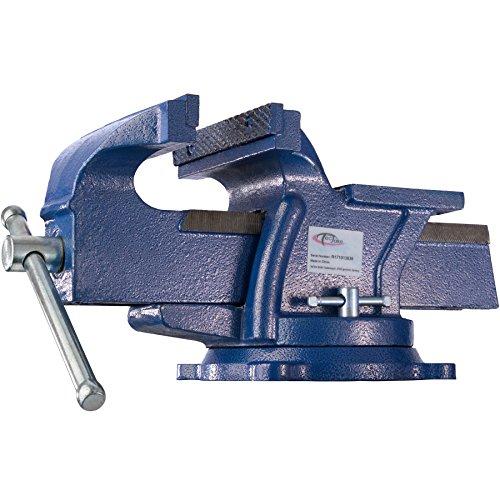 TecTake Schraubstock Amboss 360° drehbar mit Drehteller für Werkbank - Diverse Größen - (Spannweite 165 mm | Nr. 401125)