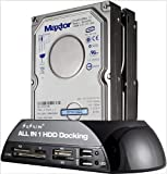 SISUN 2.5' / 3.5' IDE SATA HDD Docking Station +Card Reader Hub (Black)